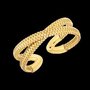 Roberto Coin 18K Gold Flexible Criss-Cross Cuff