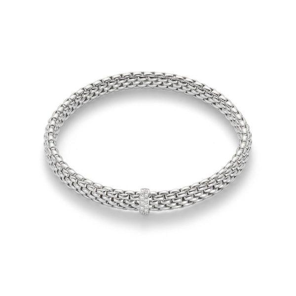 FOPE Flex'It 18K White Gold Bracelet With Diamonds