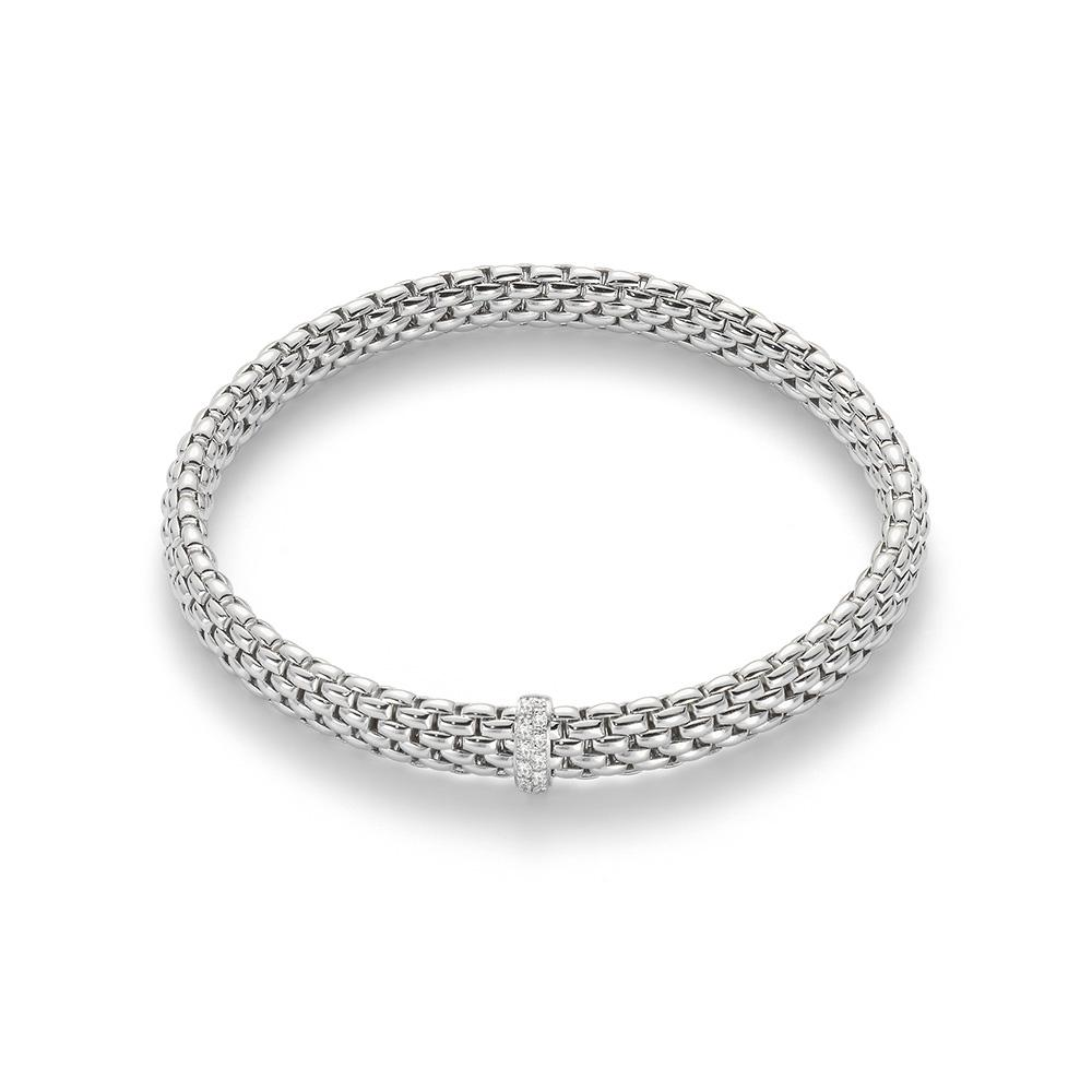 FOPE Flex'It 18K White Gold Bracelet With Diamonds