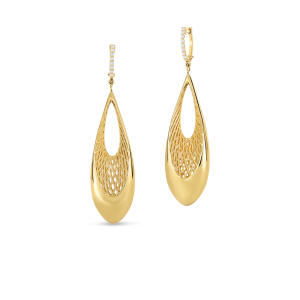 Roberto Coin 18K Gold Drop Earrings With Diamond Accents