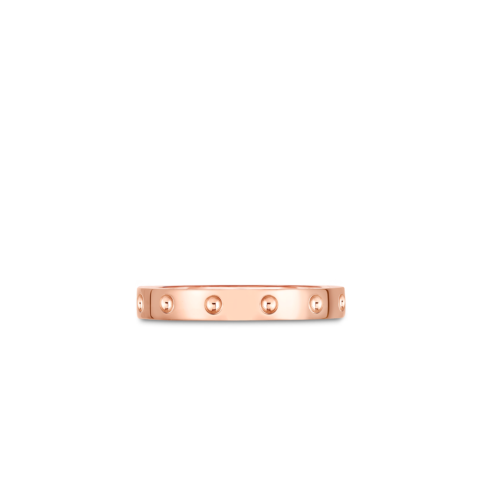 Roberto Coin 18K Rose Gold Pois Mois Band Ring