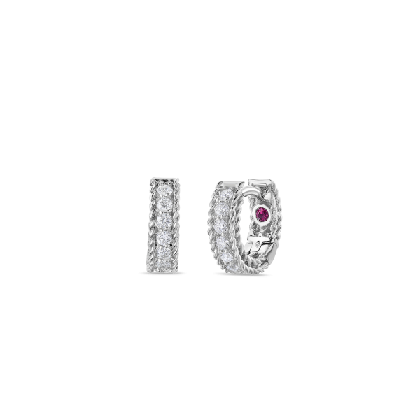 Roberto Coin 18K White Gold Princess Earrings With Diamonds