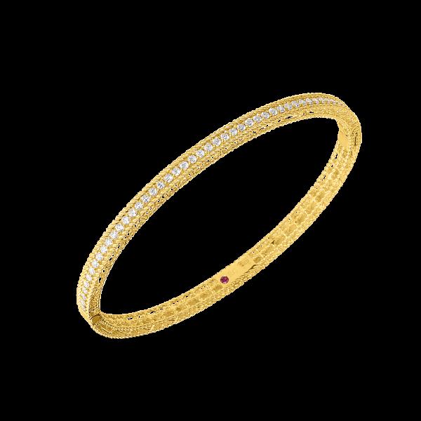 Roberto Coin 18K Yellow Gold Diamond Princess Oval Bangle