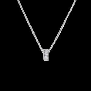 Roberto Coin 18K White Gold Princess Rondel Pendant With Diamonds