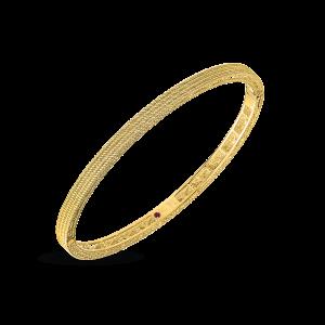 Roberto Coin 18K Yellow Gold Barocco Oval Bangle