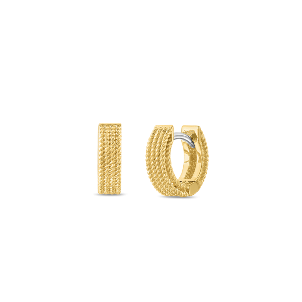 Roberto Coin 18K Yellow Gold Barocco Hoop Earrings