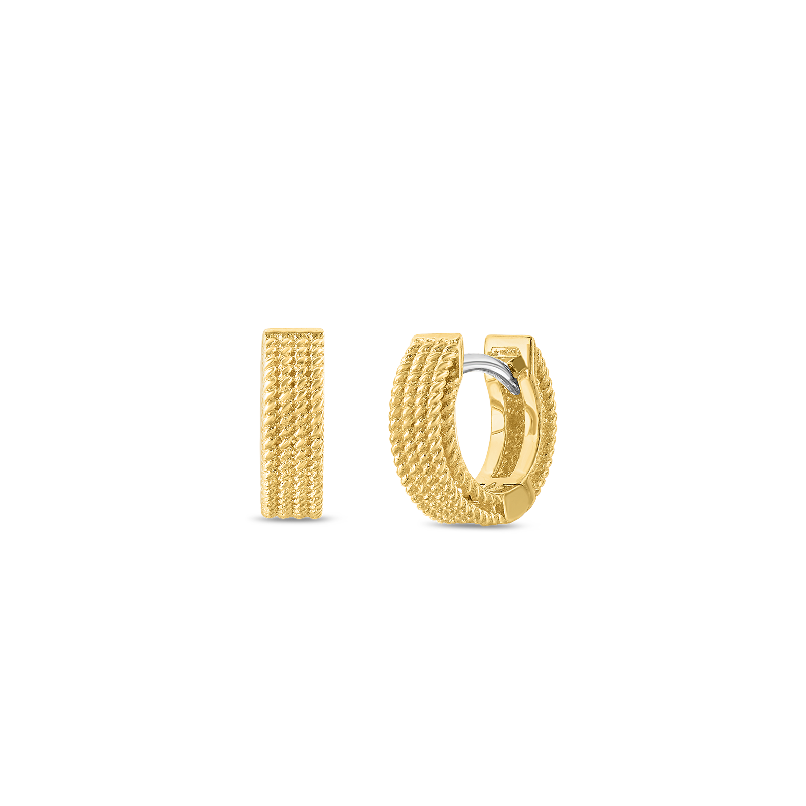 Roberto Coin 18K Yellow Gold Barocco Hoop Earrings