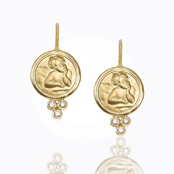 Temple St. Clair 18K Angel Earrings With Diamond