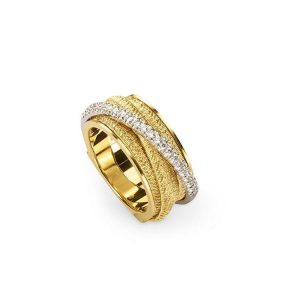 Marco Bicego Cairo 18K Yellow Gold & Diamond Five Strand Woven Ring