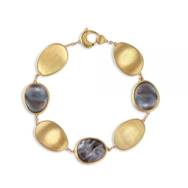 Marco Bicego Lunaria 18K Yellow Gold and Black Mother of Pearl Bracelet