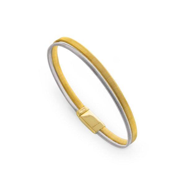 Marco Bicego Masai 18K Yellow & White Gold Two Strand Bracelet