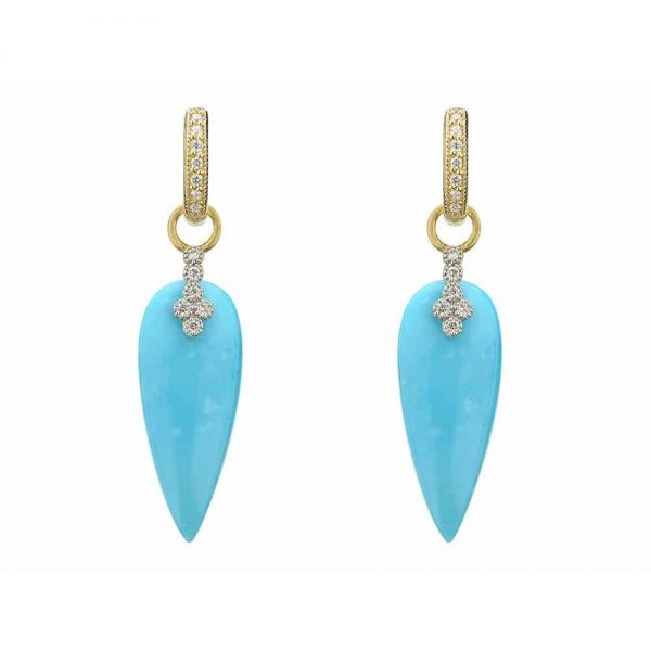Jude Frances Provence Teardrop Turquoise Earring Charms