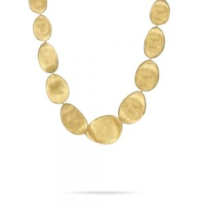 Marco Bicego Lunaria 18K Yellow Gold Large Graduated Collar Necklace