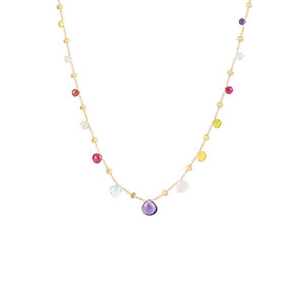 Marco Bicego Paradise 18K Yellow Gold & Mixed Stone Graduated Short Necklace