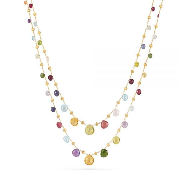 Marco Bicego Paradise 18K Yellow Gold & Mixed Stone Graduated Long Necklace