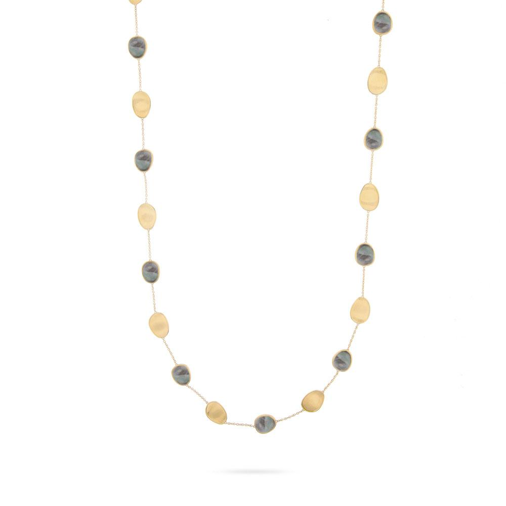 Marco Bicego Lunaria 18K Yellow Gold & Black Mother of Pearl Long Necklace