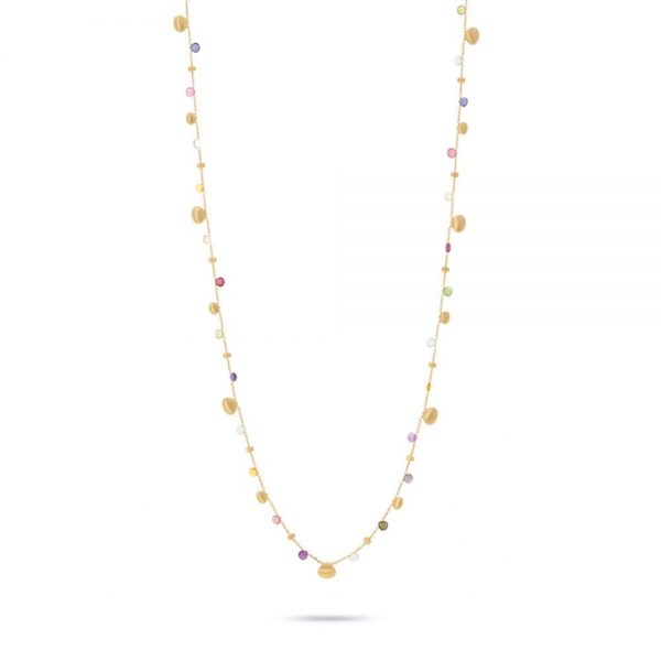 Marco Bicego Paradise 18k Yellow Gold Paradise Gold Tear Drop Graduated Long Necklace
