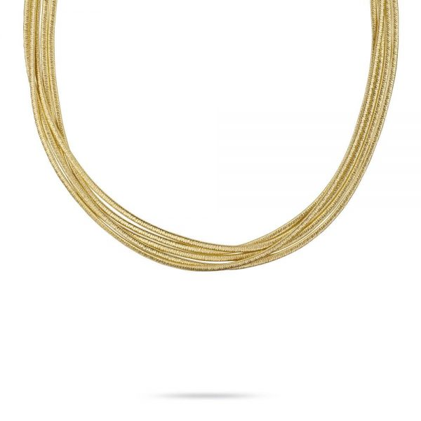 Marco Bicego Cairo 18K Yellow Gold Five Strand Woven Collar Necklace