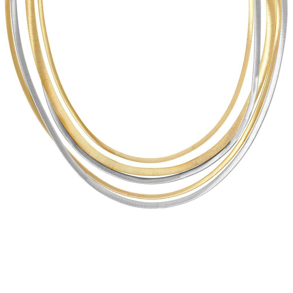 Marco Bicego Masai 18K Yellow and White Gold Five Strand Necklace