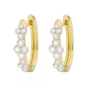 Jude Frances Provence 18K Diamond Hoop Earrings