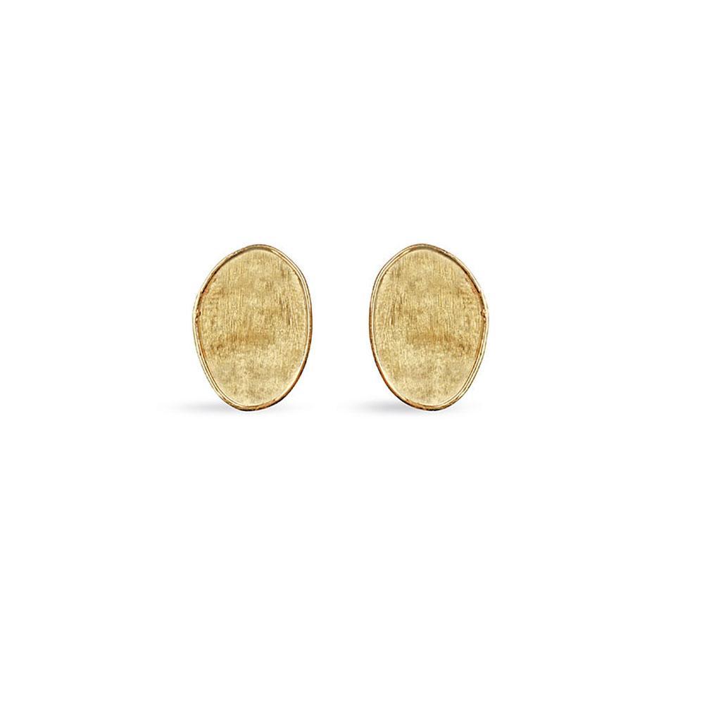 Marco Bicego Lunaria 18K Yellow Gold Small Petal Stud Earrings