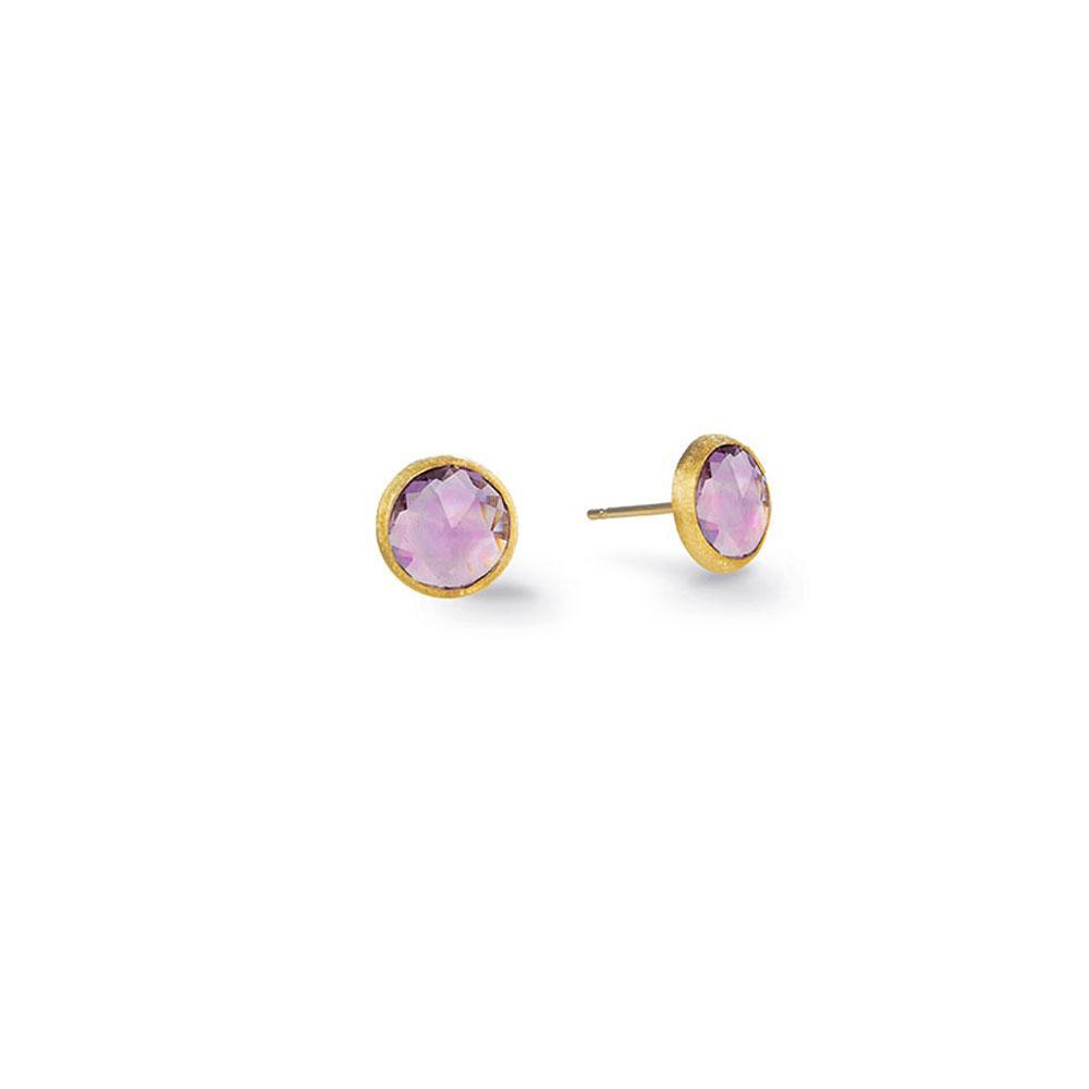 Marco Bicego Jaipur 18K Yellow Gold & Amethyst Petite Stud Earrings