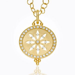 Temple St. Clair 18K Cutout Sorcerer Pendant With Diamond Pavé