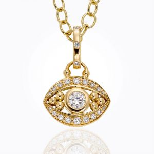 Temple St. Clair 18K Evil Eye Pendant In Diamond