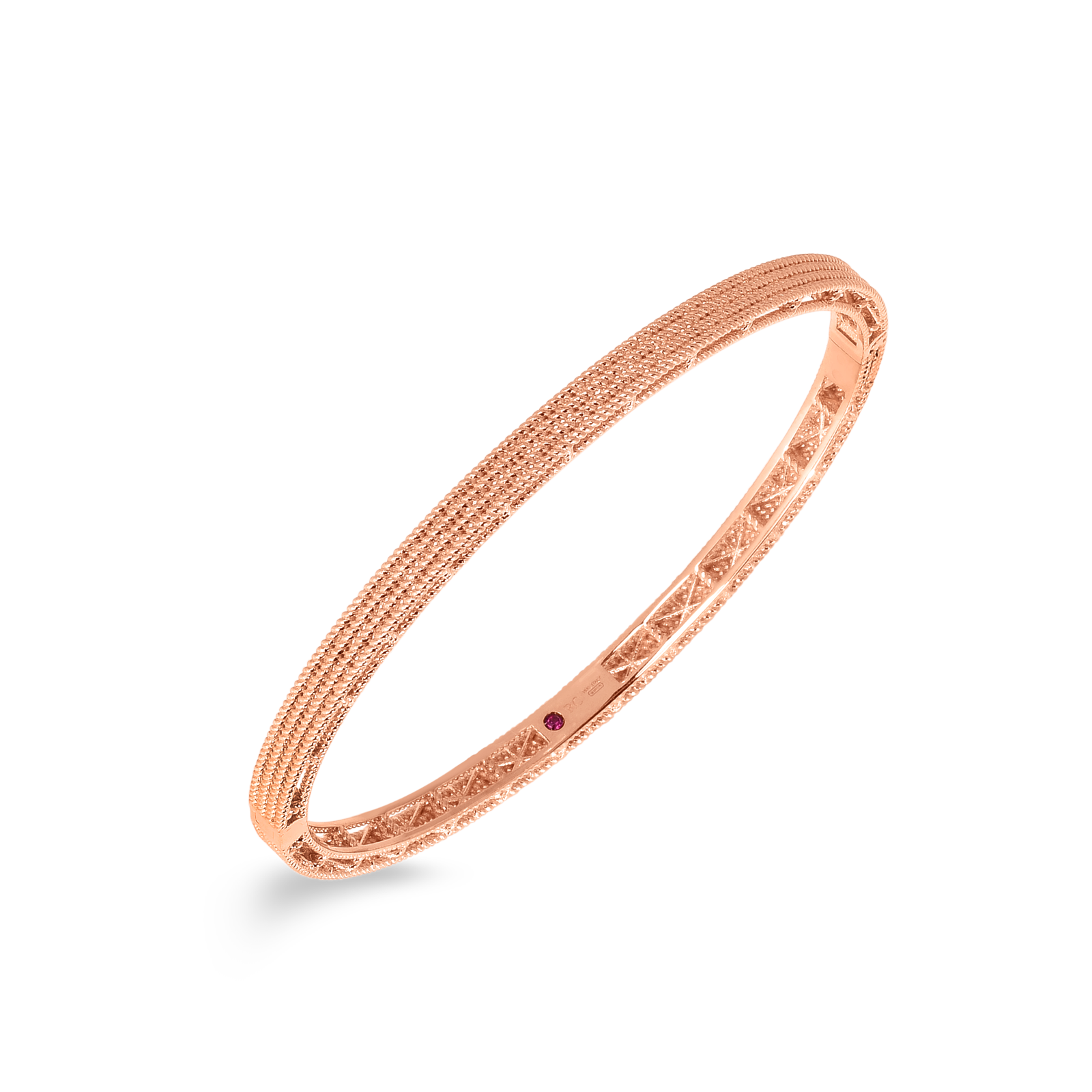 Roberto Coin 18K Rose Gold Barocco Oval Bangle