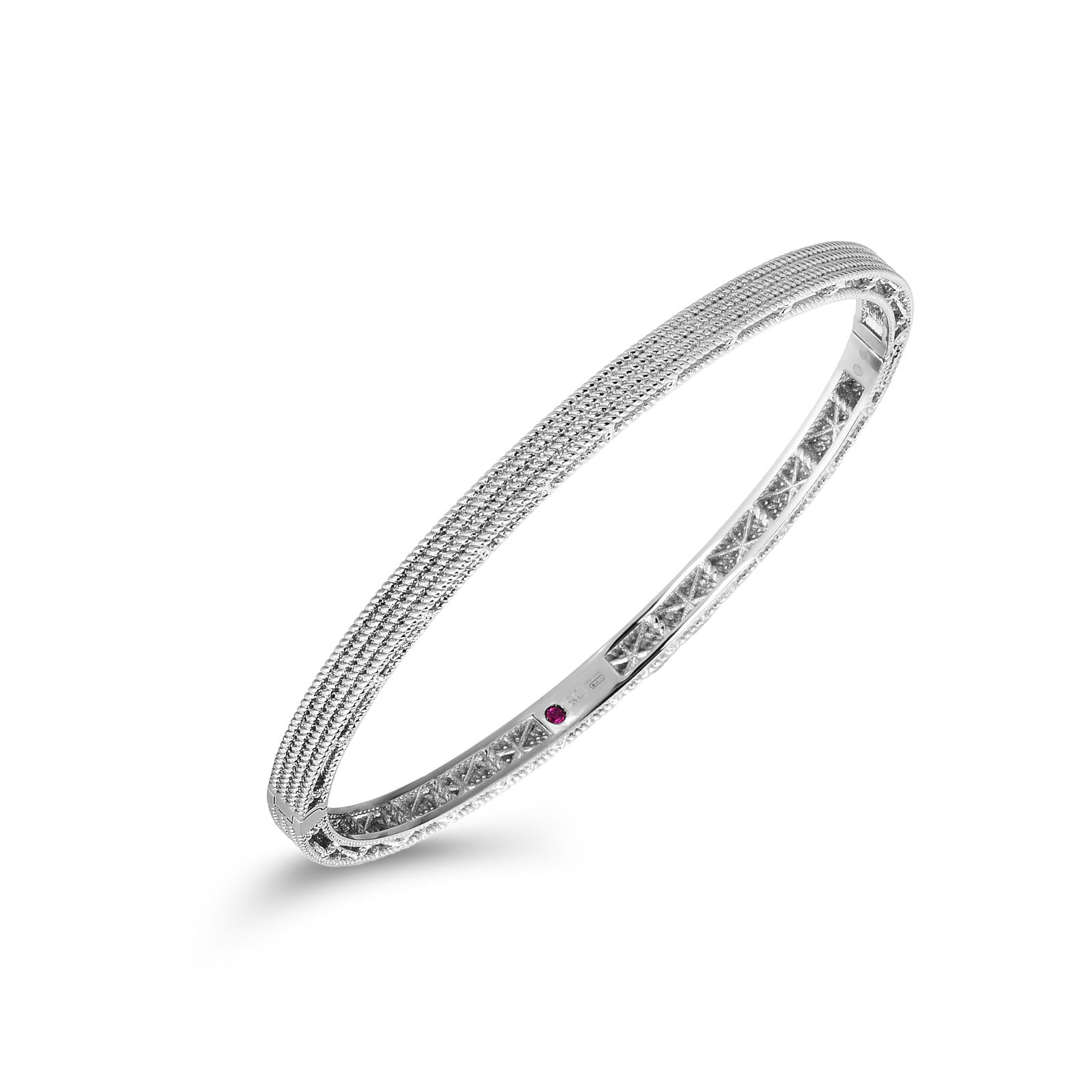 Roberto Coin 18K White Gold Barocco Oval Bangle