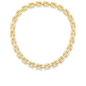 Roberto Coin 18K Yellow Gold Retro Link Collar Necklace