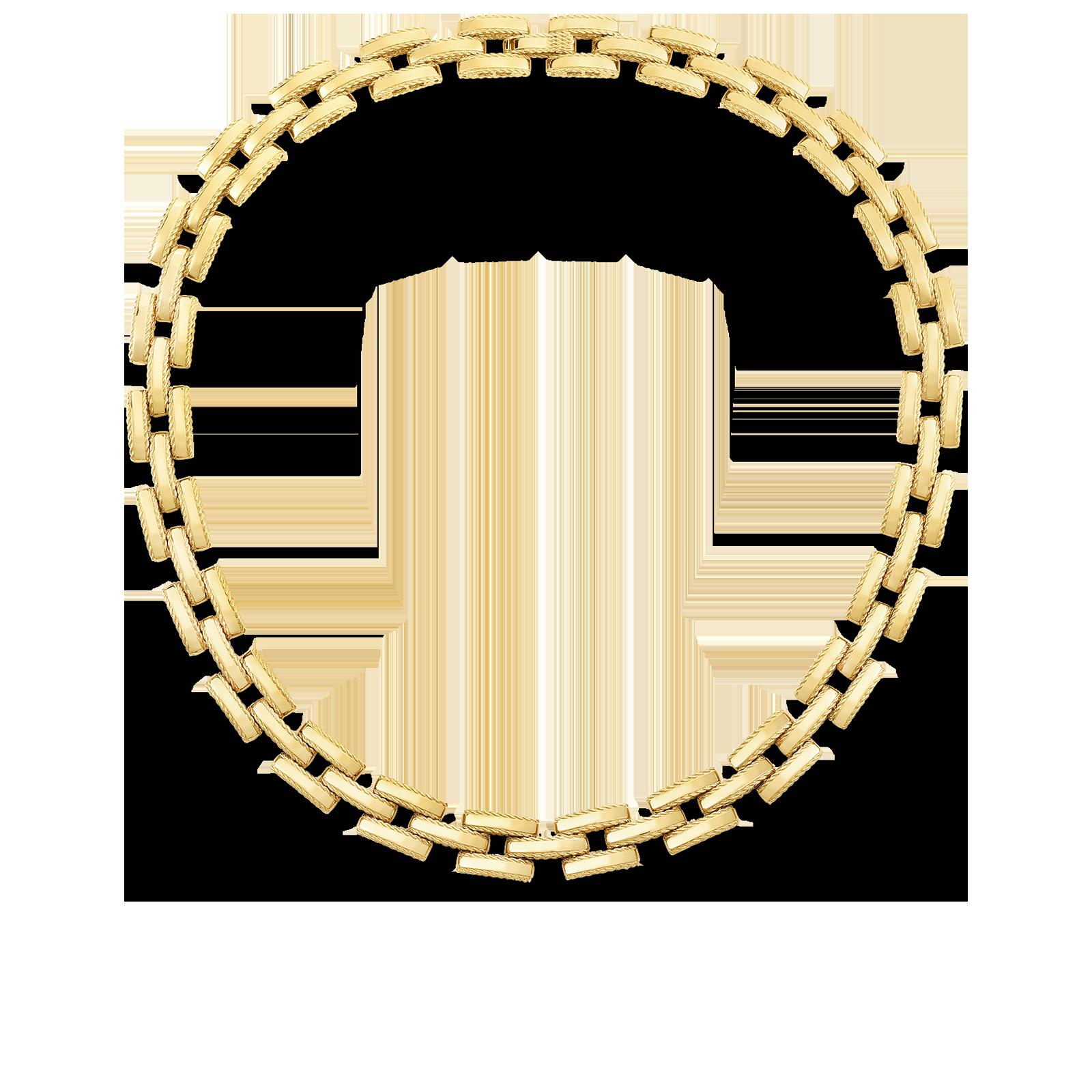 Roberto Coin 18K Yellow Gold Retro Link Collar Necklace