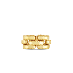 Roberto Coin 18K Yellow Gold Retro Link Ring