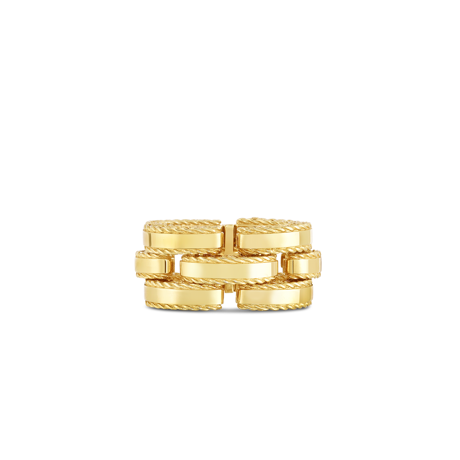Roberto Coin 18K Yellow Gold Retro Link Ring