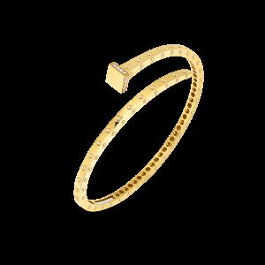 Roberto Coin 18K Gold Slim Chiodo Bangle With Diamonds