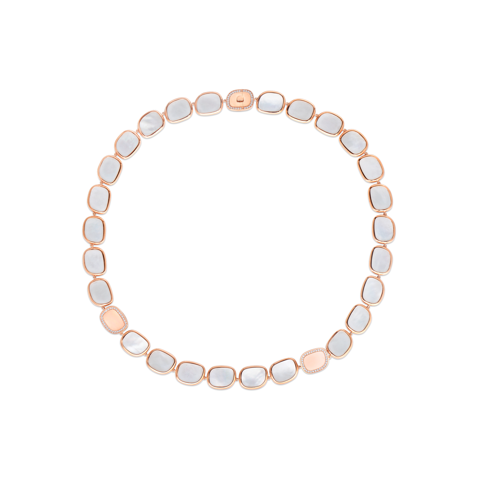 Roberto Coin 18K Gold Mother of Pearl And Diamond Necklace