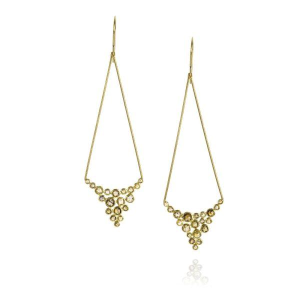 Todd Reed 18K Rose Cut Diamond Dangle Earrings
