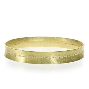 Todd Reed 18K Bangle Bracelet Center Set Diamonds
