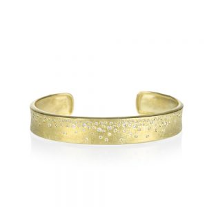Todd Reed 18K Gold Mini Cuff With White Diamonds