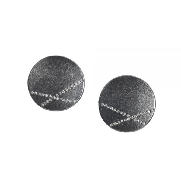 Todd Reed Patina Sterling Silver Cuff Links
