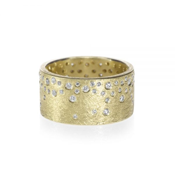 Todd Reed 18K Gold Band With White Diamonds