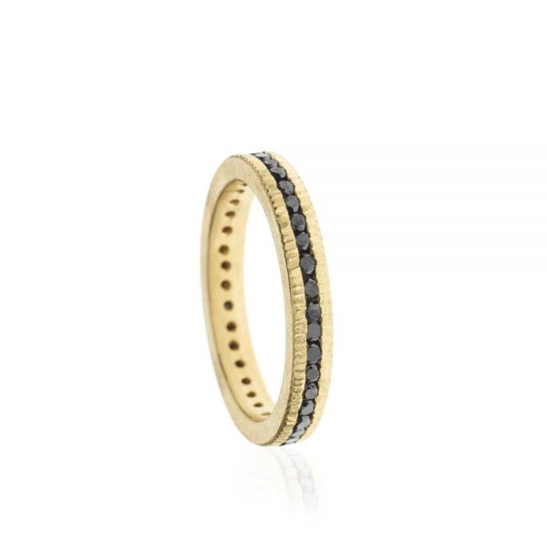 Todd Reed 18k Gold Black Diamond Eternity Band