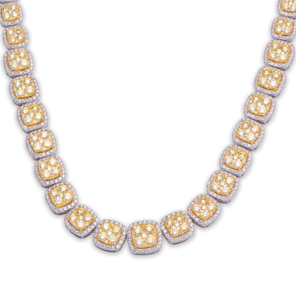 Diva Yellow Diamond Necklace With White Diamonds 18K Gold