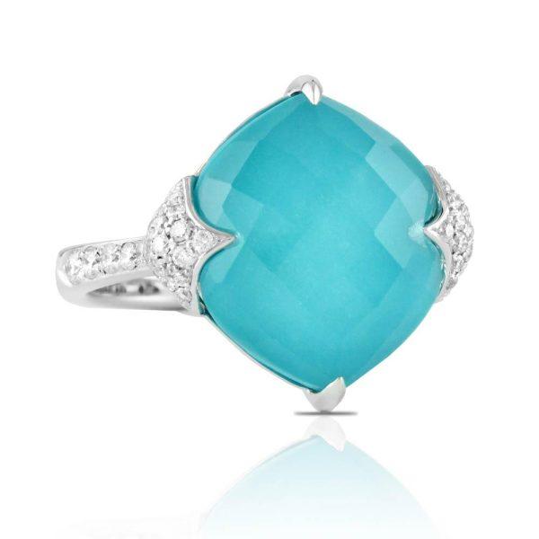 Doves Saint Barths Blue 18K White Gold Diamond Ring