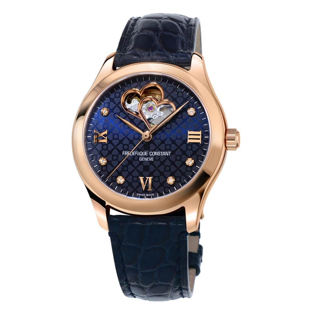 Frederique Constant Ladies Automatic Navy Alligator Strap