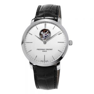Frederique Constant Slimline Automatic Black Leather Strap