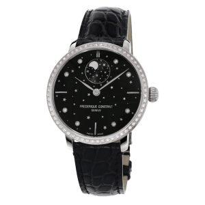 Frederique Constant Slimline Moonphase Stars Black