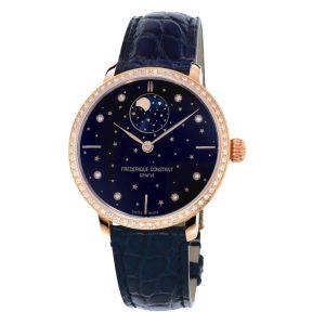 Frederique Constant Slimline Moonphase Stars Navy