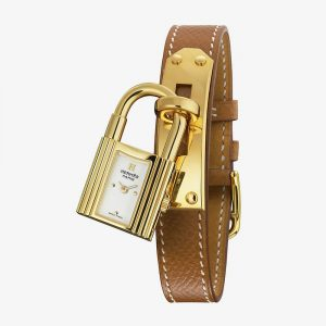 Hermès Kelly Watch Gold Lock With Epsom Calfskin Strap