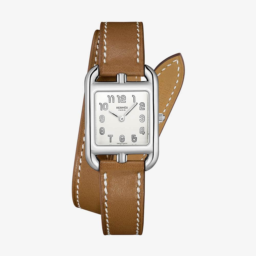 Hermès Cape Cod Watch With Natural Barenia Calfskin Strap